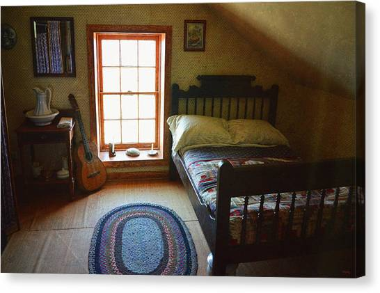 Keeper Canvas Print - The Lighthouse Keepers Bedroom - San Diego by Glenn McCarthy Art and Photography