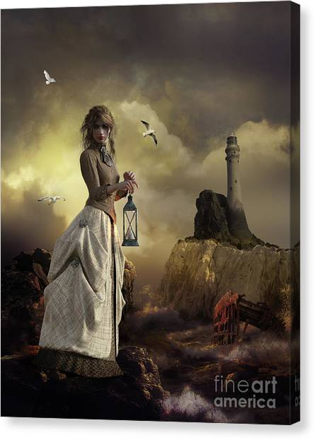 Keeper Canvas Print - The Lighthouse Keeper's Daughter by Shanina Conway