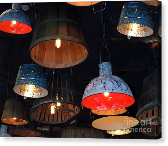 Canvas Print featuring the photograph The Lights Above by Rick Locke