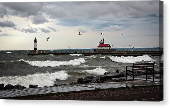 The Lights In The Storm Canvas Print