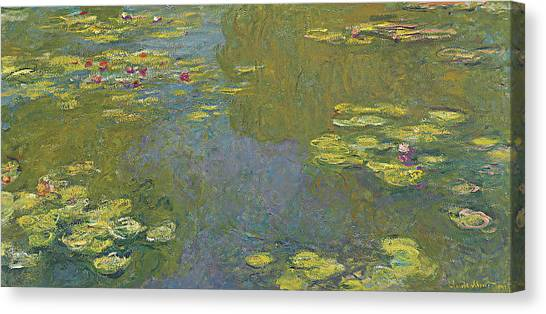 Murky Canvas Print - The Lily Pond by Claude Monet
