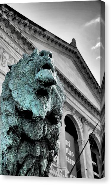 The Lion-arted Canvas Print
