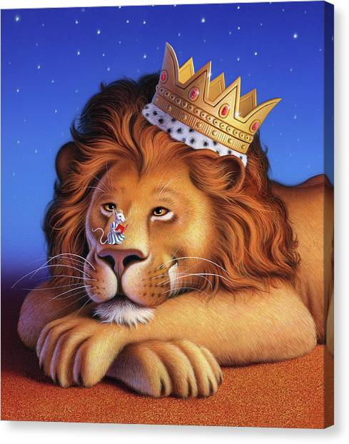 Mice Canvas Print - The Lion King by Jerry LoFaro