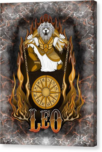 The Lion Leo Spirit Canvas Print