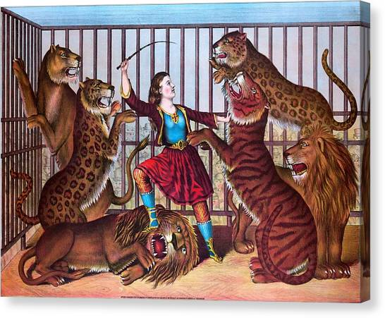 The Lion Queen Print, 1874 Canvas Print