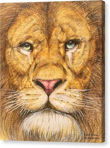 Pencils Canvas Print - The Lion Roar Of Freedom by Kent Chua