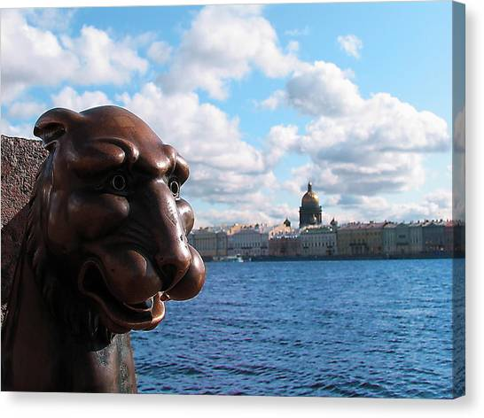 The Lion Which Remembers Much Canvas Print by Yury Bashkin