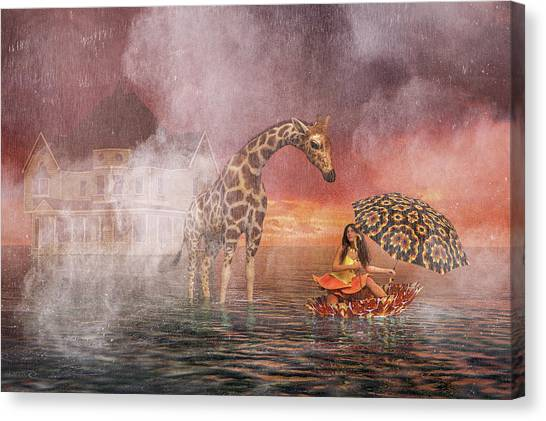 Flooding Canvas Print - The Little Flower by Betsy Knapp