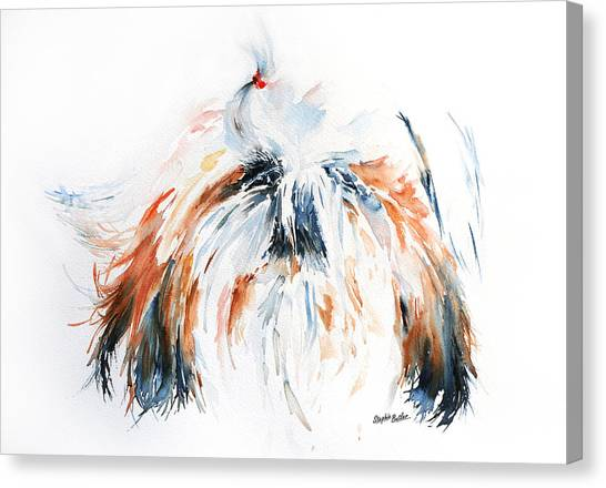 Shih Tzus Canvas Print - The Little Horror by Stephie Butler