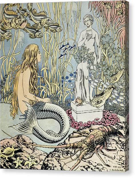 Atlantis Canvas Print - The Little Mermaid by Ivan Jakovlevich Bilibin
