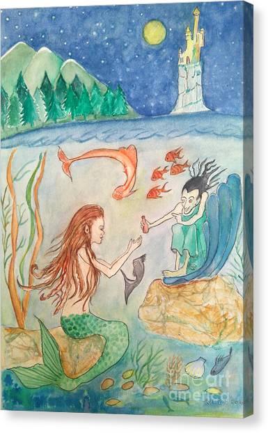 The Little Mermaid Canvas Print