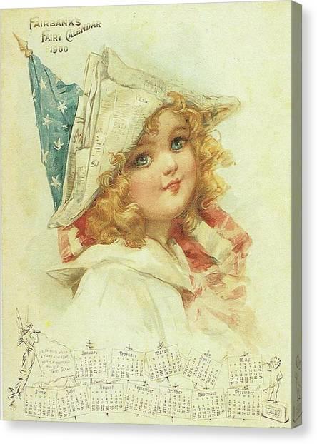The Little Patriot Canvas Print