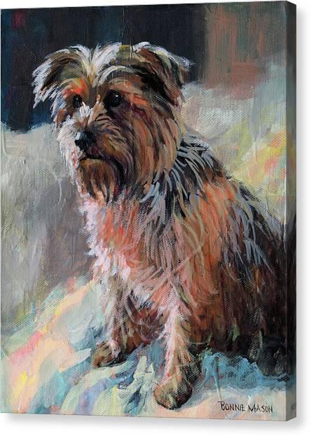 Yorkshire Terriers Canvas Print - The Little Princess by Bonnie Mason