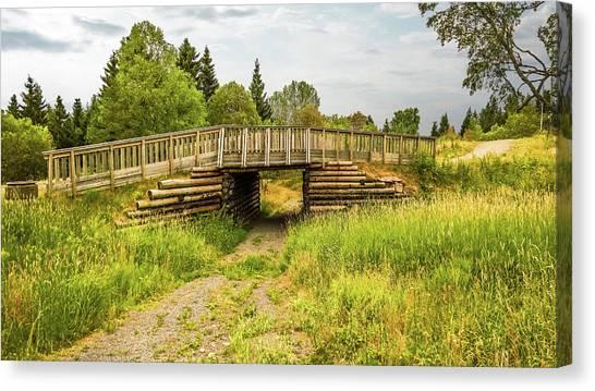 The Little Wooden Bridge Canvas Print