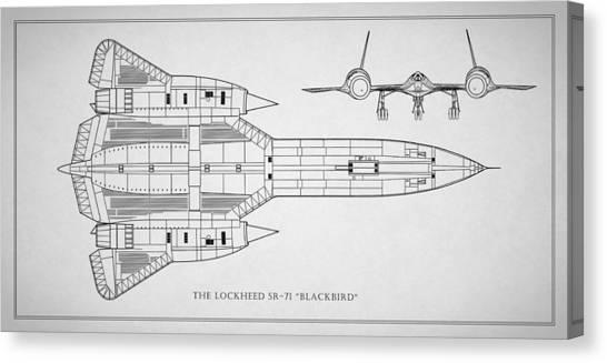 Blackbird Canvas Print - The Lockheed Sr-71 Blackbird by Mark Rogan