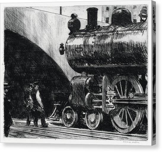 The Locomotive Canvas Print