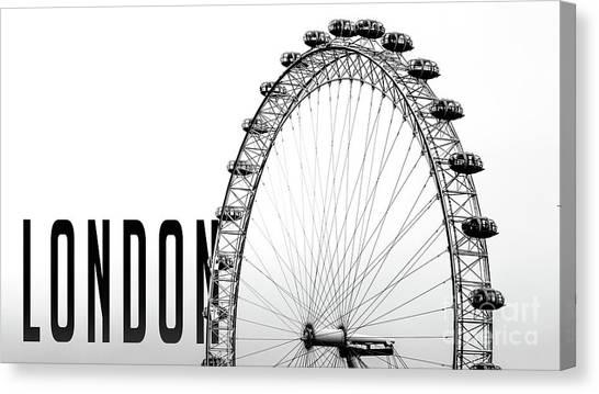 London Eye Canvas Print - The London Eye by Edward Fielding