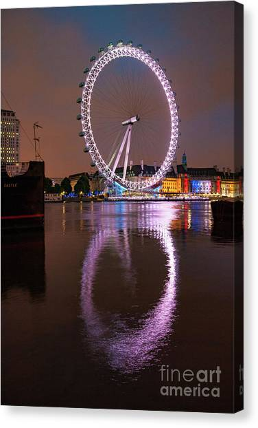 London Canvas Print - The London Eye by Smart Aviation