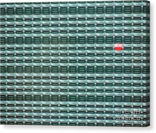 Home Runs Canvas Print - The Lone Red Seat At Fenway Park by Keith Ptak