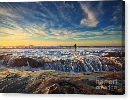 The Lone Surfer Canvas Print