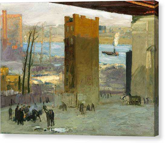 Bellows Canvas Print - The Lone Tenement by George Bellows
