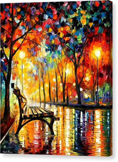 The Loneliness Of Autumn Canvas Print by Leonid Afremov