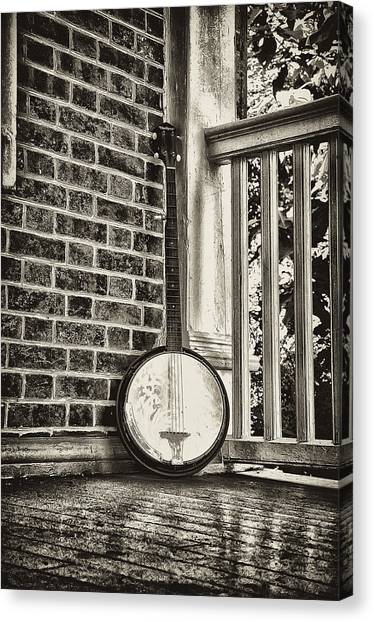 Banjos Canvas Print - The Lonely Banjo by Bill Cannon