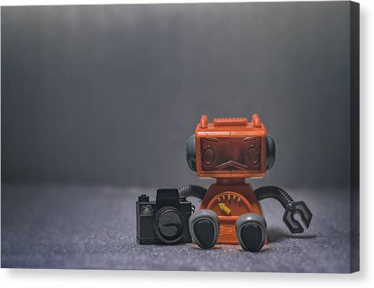 Flash Canvas Print - The Lonely Robot Photographer by Scott Norris