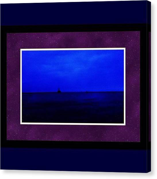 Sunset Horizon Canvas Print - The Lonely Sentinel by Nick Heap