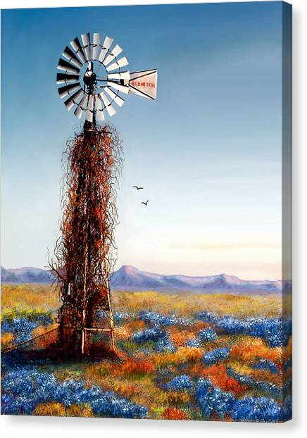 The Lonely Windmill Canvas Print