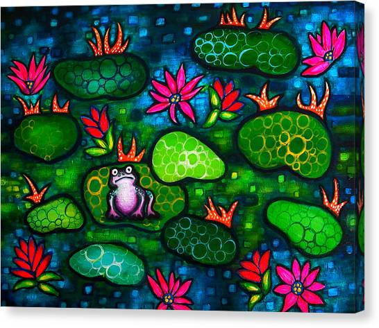 The Lonesome Frog Canvas Print by Brenda Higginson