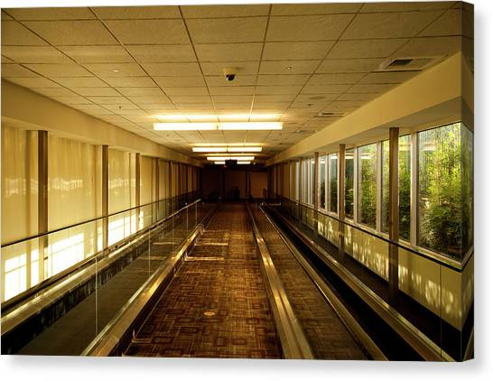 The Long Hall Canvas Print