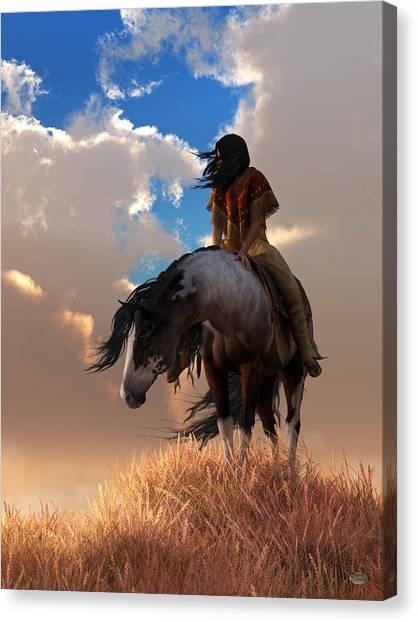 Canvas Print featuring the digital art The Long Journey Home by Daniel Eskridge