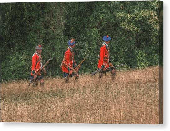 The Long March To Fort Pitt  Canvas Print by Randy Steele