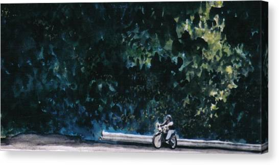 the Long Ride Canvas Print by Saundra Lee York