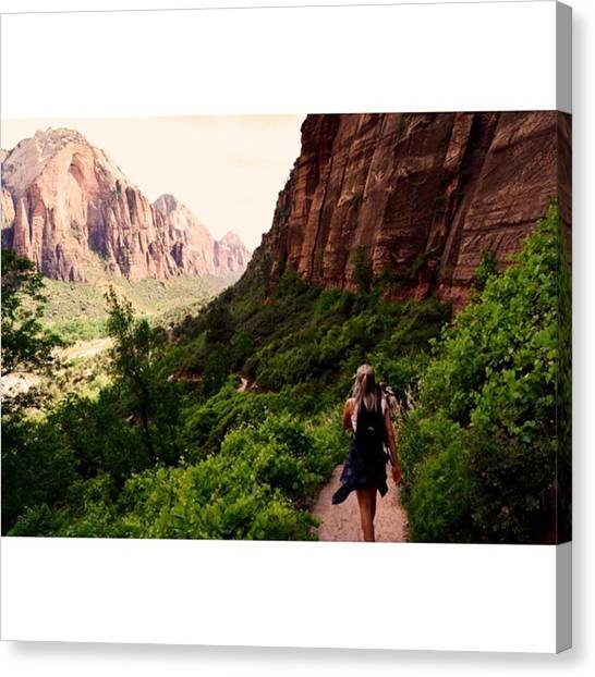 Scotty Canvas Print - The Long Road Ahead 😓🌲🌄 by Scotty Brown