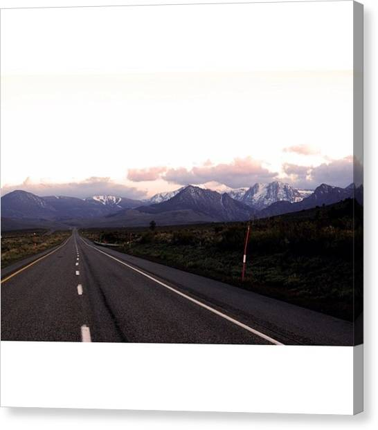 Scotty Canvas Print - The Long Road Ahead Through Tioga Pass by Scotty Brown
