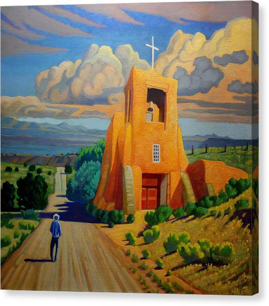 The Long Road To Santa Fe Canvas Print