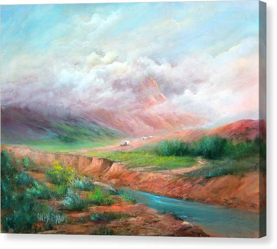 The Long Trail Canvas Print by Sally Seago