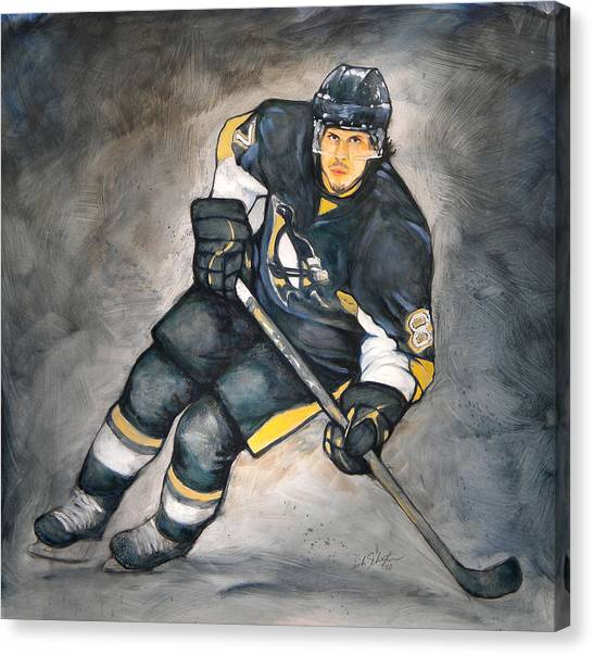 Pittsburgh Penguins Canvas Print - The Look Of A Champion by Erik Schutzman