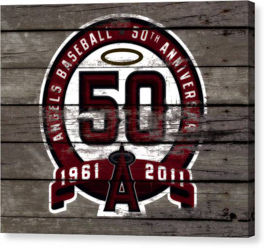 Reggie White Canvas Print - The Los Angeles Angels Of Anaheim 50 Years Of Angels Baseball by Brian Reaves
