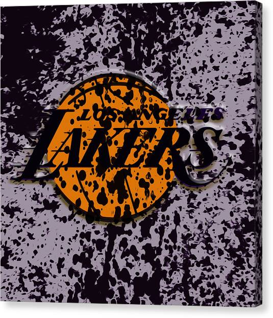 La Lakers Canvas Print - The Los Angeles Lakers B2a by Brian Reaves