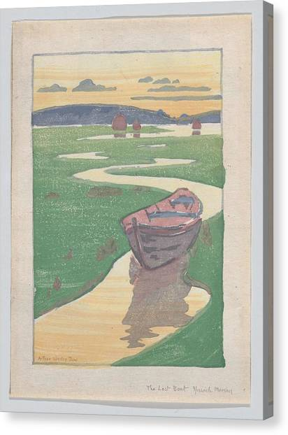 The Lost Boat , Arthur Wesley Dow Canvas Print