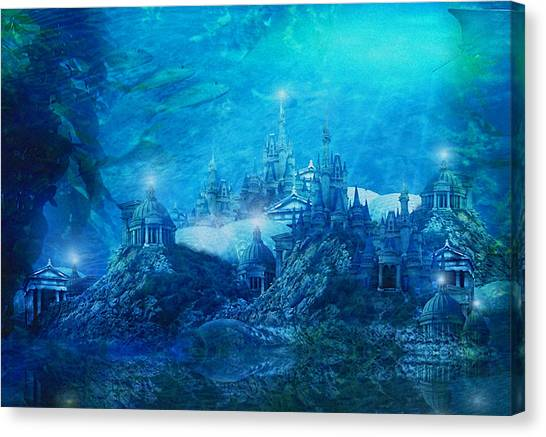 Atlantis Canvas Print - The Lost City by Karen Koski