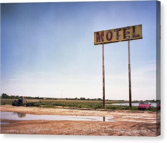 The Lost Motel Canvas Print by HW Kateley