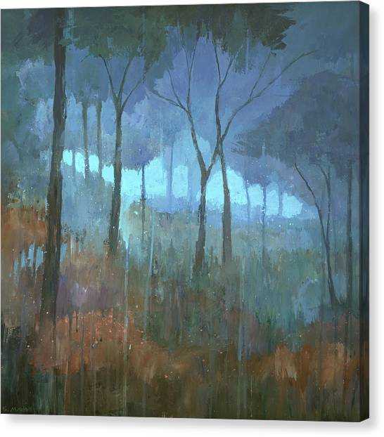 Canvas Print featuring the painting The Lost Trail by Steve Mitchell