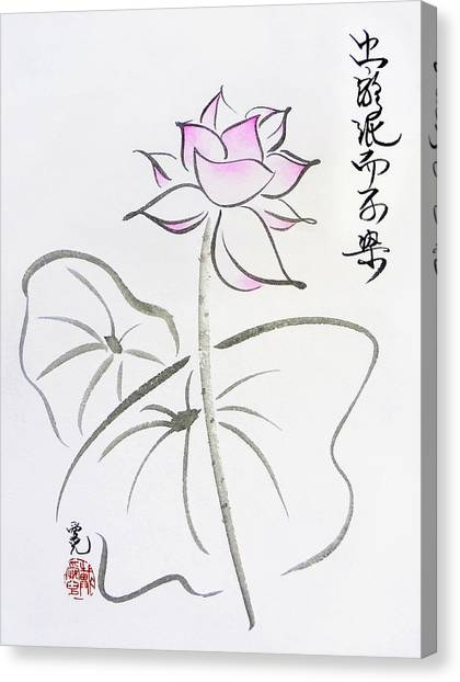 The Lotus Rises Out Of Muddy Waters Untainted Canvas Print