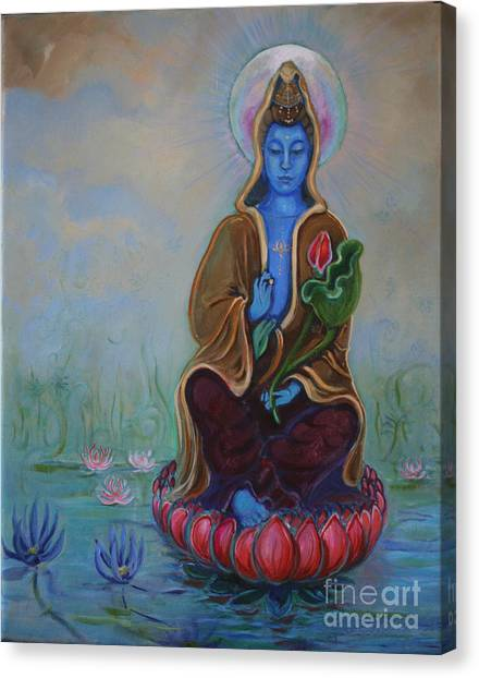 The Lotus Seed Canvas Print by Catherine Moore