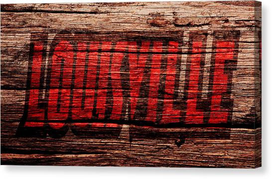 University Of Louisville Canvas Print - The Louisville Cardinals 1b by Brian Reaves