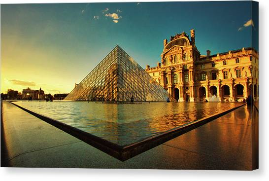 The Louvre Museum Canvas Print